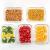 Vorratsbehälter mit Deckel (5-Teiliges of 1040 ml) Rechteckig Glas-Frischhaltedosen, Luftdicht, Lunchboxen - 4