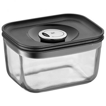 WMF Depot Fresh Vorratsdose, 13 x 10 cm, rechteckig, Glas, Vorratsglas, luftdichter Aroma-Deckel, Frische-Ventil, Frischhaltedose zum Vorbereiten, Aufbewahren und Servieren - 1