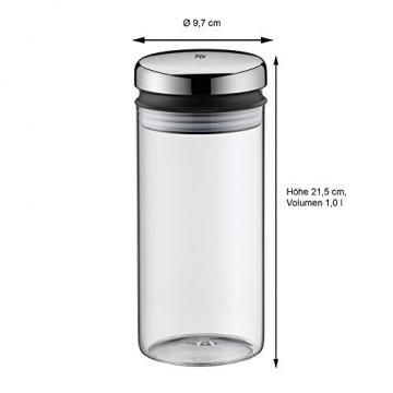 WMF Depot Vorratsglas, 1,0 l, Höhe 21,5 cm, Glas, Vorratsdose, Frischhaltedose zum Aufbewahren, große Einfüllöffnung - 4