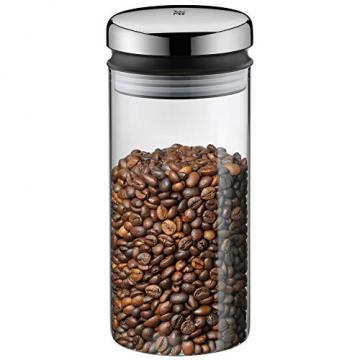 WMF Depot Vorratsglas, 1,0 l, Höhe 21,5 cm, Glas, Vorratsdose, Frischhaltedose zum Aufbewahren, große Einfüllöffnung - 1