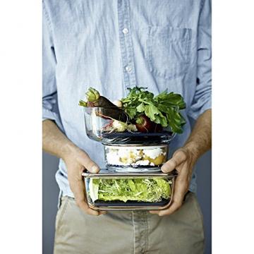 WMF Top Serve Frischhaltedosen-Set, 2-teilig rund, Schale mit Abtropfgitter, luftdichtem Deckel, Frische-Ventil, Box zum Vorbereiten, Aufbewahren und Servieren - 5