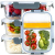Zoë&Mii hochwertige Glas Frischhaltedose mit Deckel – 8 Teiliges, 3-Fach, Vorratsdosen Glas, Set mit TITAN Deckel – Auslaufsichere Meal Prep Container aus Glas – Praktisches Mikrowellengeschirr-1050ml - 1