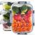 Zoë&Mii Lebensmittelbehälter aus Glas 8 teilige Set 880 ml - Hochwertige und luftdichte Glasschalen BPA-frei - Frischhaltedosen Vorratsdosen mit Smart Lock Deckel - Meal Prep, Glasschüssel mit Deckel - 1